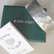 KIRK STEIFF Pewter Chrysanthemum Cuff Bracelet