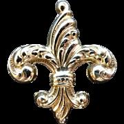 12K Gold Filled Fancy Fleur-de-Lis Watch Pin