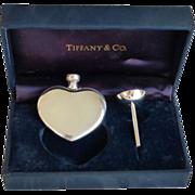 TIFFANY & Co. Sterling Heart Perfume Bottle & Funnel
