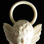 SOLD Antique Celluloid Angel Teether