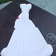 Milk Glass Gloved Hand Fan Tray Atterbury 1889