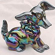 SOLD Amethyst Carnival Terrier Hound Dog Parlor Pup Imperial