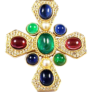 REDUCED CINER 'Jewels of India' Simulated Ruby, Sapphire, Emerald, Pearl & Diamond Maltese
