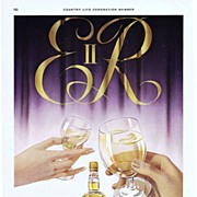 1953 Ads - BOOTH'S Dry Gin - 'ER II' / Courvoisier COGNAC (on reverse)