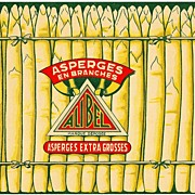 Vintage FRENCH Food LABEL - 'Alibel' Brand Belgian Asparagus