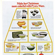 1968 Ad - PYREX - 'Make her Christmas more colorful with Pyrex Ware' (w/ prices)