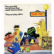 1971 Ad - Topper SESAME STREET TOYS - 'Now your kids can do more than watch Sesame Street.'
