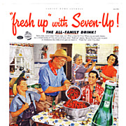 1952 Ad - 7-UP SEVEN-UP - 'Berry time, merry time!'