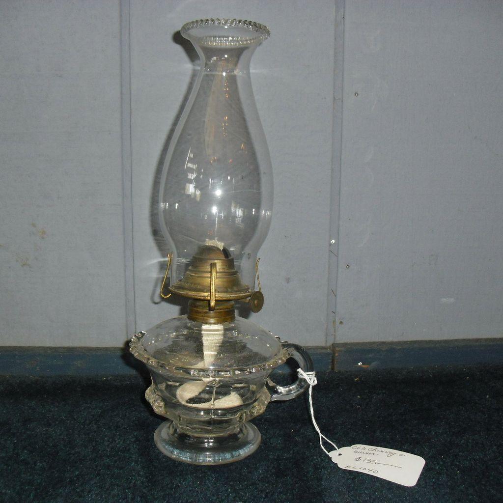 Pressed Footed Kerosene Oil Hand Lamp / Finger Lamp