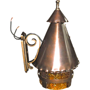 Tudor Copper and Cast Brass Porch Light