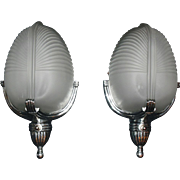 Art Deco Machine Age Wall Sconces - Lightolier - 2 pairs available