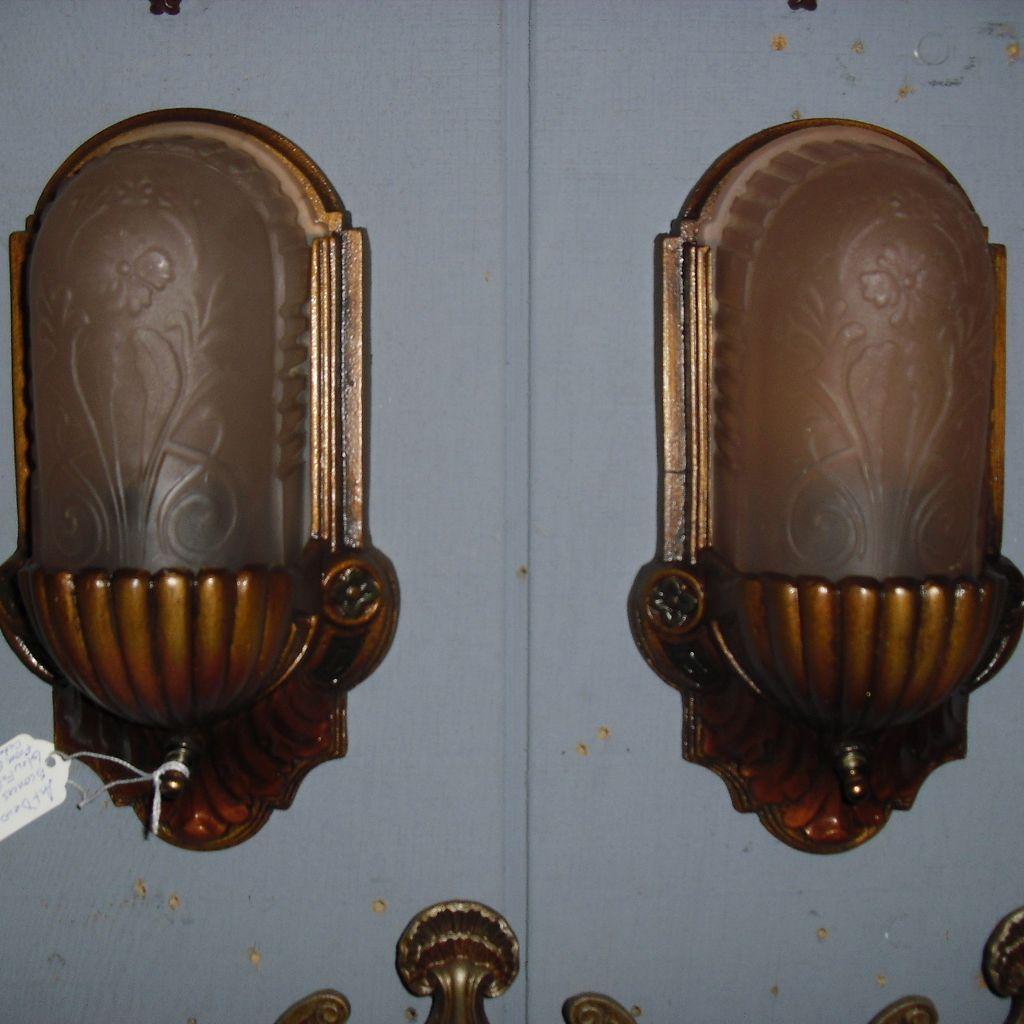 Art Deco Slip Shade Wall Sconces : rl1221.2L.jpg?1
