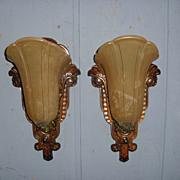 Art Deco Slip Shade Wall Sconces