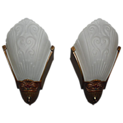 Virden Art Deco Slip Shade Sconces
