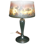 Reverse Painted Table Lamp - Aronson
