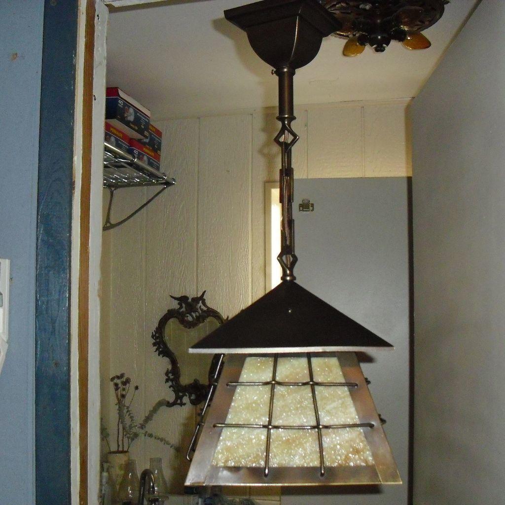arts and crafts lighting antique brass. Black Bedroom Furniture Sets. Home Design Ideas