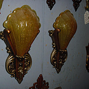 Art Deco Slip Shade Wall Sconce Lights - Riddle