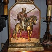 Oversized Arab on Arabian Horse Mantle Light / Novelty Lamp