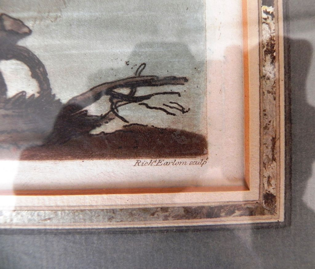 Fine framed 19c colored mezzotint by richard earlom after for Jewelry arts prairie village