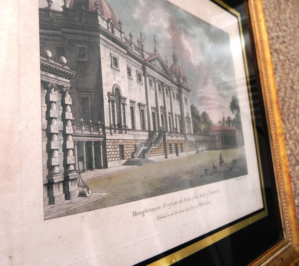Set 4 antique english architectural engravings in eglomise for Jewelry arts prairie village