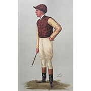 SALE 1887 Original Vanity Fair Jockey Print ~ George Barrett