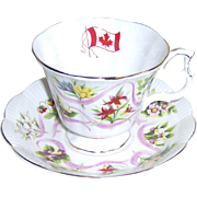 Royal Albert Cup & Saucer -Canada Our Emblems Dear