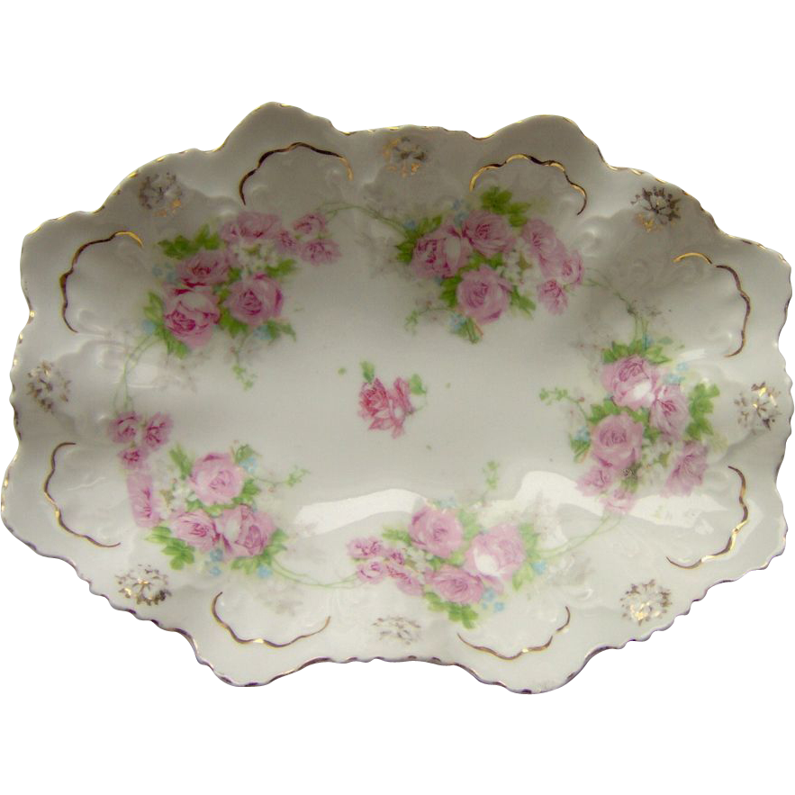 Scalloped Floral Dish Mz Austria From Shopwithelaine On