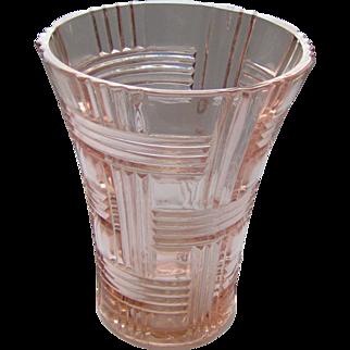 Lovely Pink Depression Glass Vase