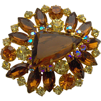 Large Amber Brooch