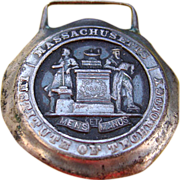 REDUCED RARE Early 1900's Sterling MIT University Collegiate Fob