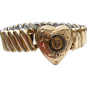 WWII Gold Filled CORNELL University Expansion Bracelet