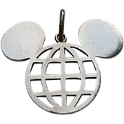 Vintage Sterling Silver Disney Mickey Mouse EPCOT Center Charm