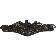 WWII U.S. Navy Submariner's Sterling Insignia Badge Pin