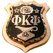 1936 Phi Kappa Psi Gold & Enamel Fraternity Badge Pin