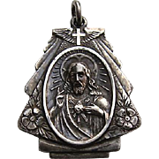 WWII Sterling PILOT Wings Sacred Heart St. Anne Religious Medal