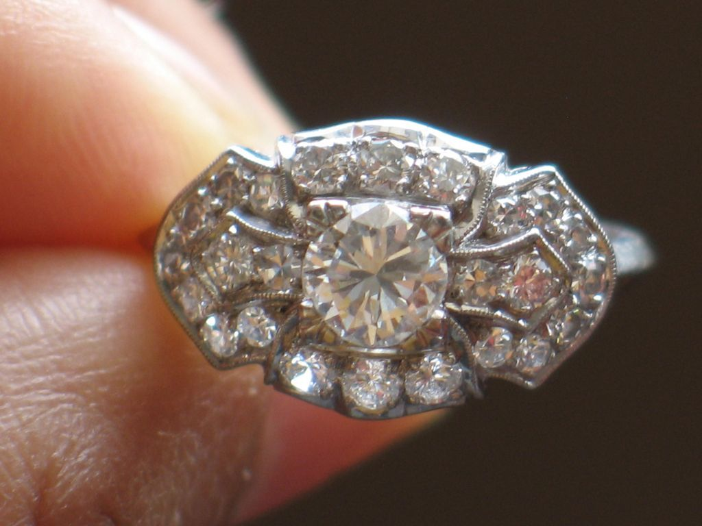 vintage platinum and diamonds engagement ring appraisal