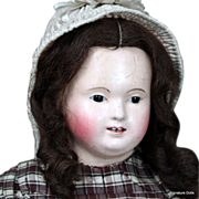 Wigged Papier Mache Doll by Andreas Voit in Superb Original Condition