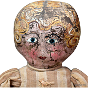 REDUCED Charming Oil Painted Folk Cloth Doll