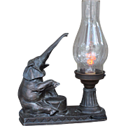 RARE G.O.P. Bronze lamp with Aerolux bulb c.1940