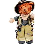 American Teddy Bear in Original Cowboy Costume, 1930's