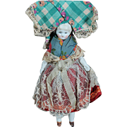 "5"" Dollhouse China in Original Regional Clothing"