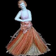 German Porcelan Half Doll with Brush
