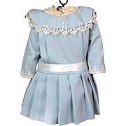 Nicely Made Blue Cotton Wool Bebe Dress
