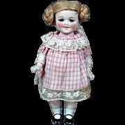 Kestner 156 All-Bisque Child Doll, Original Wig and Costume