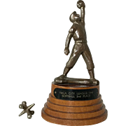 Charming Vintage 1948 Softball Baseball Trophy YMCA City League