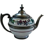 Vintage Graniteware/Enamelware Tea Pot W/Gooseneck Spout