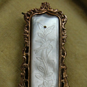 A Georgian Gilt Metal & Mother of Pearl Belt Buckle. Circa 1830.