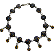 An Indian Enamel Necklace. Circa 1900.