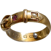 A Victorian 18ct Gold Buckle Ring. Circa 1882.