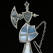 A Scottish Sterling Silver Pebble Brooch, Circa 1890.